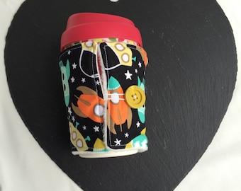Mug hug - coffee cosy - cup insulator - teacher gift - Christmas gift - cup cosy - takeaway cup cosy - mug jacket - outdoorsy gift