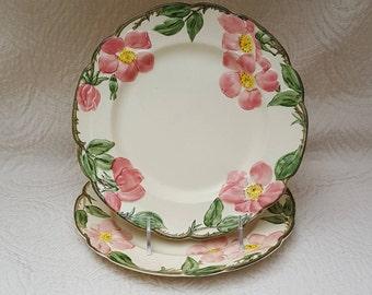 Franciscan Luncheon Plates Desert Rose