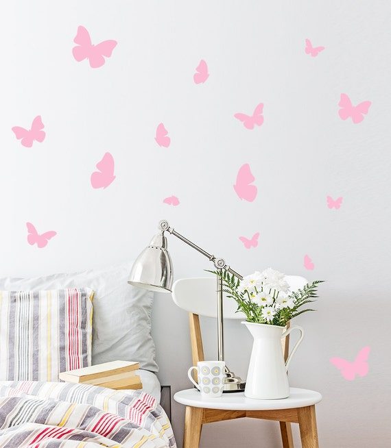 sc 1 st  Etsy & Butterfly Wall Decal / 54 Butterfly Wall Sticker / Bedroom
