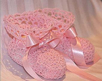 Crochet Lace Baby Booties