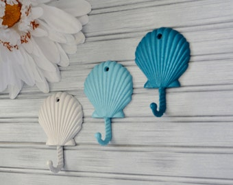 One Scallop Hook. Seashell Decor. Seashell Hook. Scallop Wall Decor. Beach Decor. Nautical Decor. Coastal Decor. Towel Hook. Bathroom Decor