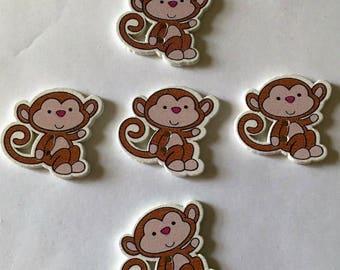 5  Monkey Buttons - #SB-00352