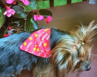 Puppy Love dog print Bandana Small