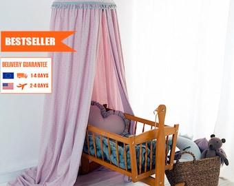 Canopy Lila Stars, Tent canopy, Bed Canopy, Crib Canopy, kids canopy, Play room canopy