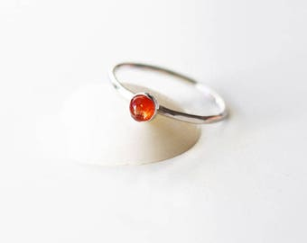 Sunstone ring, Gemstone ring, Gemstone stacking ring, sunstone stacking ring, sterling silver ring, silver stackable ring
