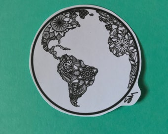Paper Globe Sticker