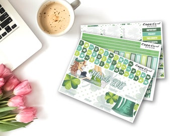 MARCH MONTHLY Kit for the Erin Condren Planner Monthly Set Functional Stickers