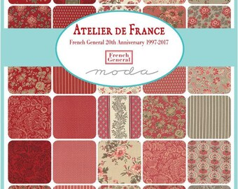 French General Atelier de France for Moda Charm Pack
