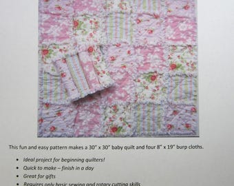 Burp Cloth Pattern | Security Blanket Pattern | Instant Download | Easy Beginner Pattern