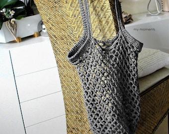 Shopping Bag gray Cotton