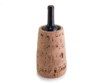 Cork to wine bottle racks.