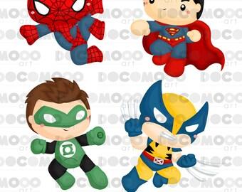 Superhero Clipart, Superhero Clip Art, Superhero Png, Superheroes Clipart, Heroes Clipart,Hero Clipart, Digital Clipart