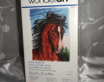 Horse Hook Rug, Crafting, Wall Decor, Fiber Arts, DIY Crafts, Gift ideas