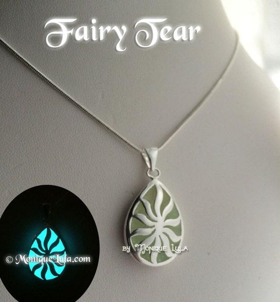 Fairy Tear Glowing Teardrop Necklace