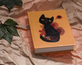 Notebook, diary, sketchbook, notepad Wasiuczyńska, hardcover Black Cat