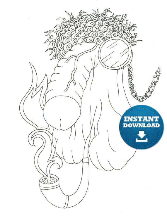 Penis Coloring book 20 pages Instant Download Naughty Adult