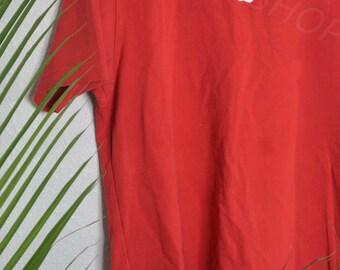 Tumblr Aesthetic Normcore Red Apple Mac Shirt