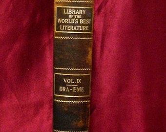 Library of the Worlds Best Literature IX 1897