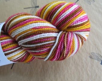 """Sock Yarn Hand Dyed Artisan """"Vesper"""" Striping Yarn Exclusive Sock Club September 2011 Colorway Transitions SUMMER to FALL Knitterly Things"""