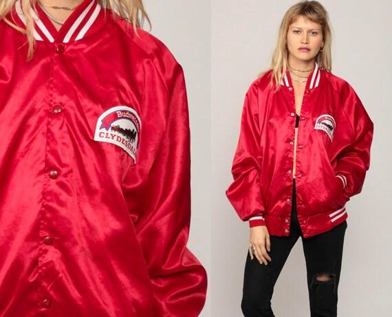 Satin Baseball Jacket ST LOUIS CARDINALS Jacket 70s Mlb Varsity Bomber Jacket Red Sports Snap Up 1970s Vintage Letterman Extra Large xl sYbb5PFk