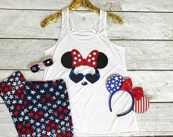 Disney 4th of July Shirt | Disney Shirts | Women's Minnie Mouse Shirt | Disney Shirts for Women | Disney Fourth of July Shirt