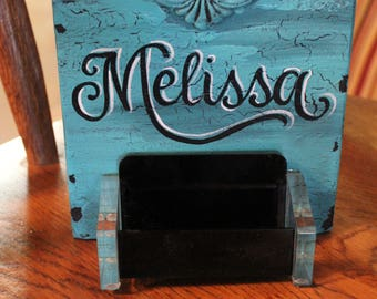 Business Card Holder, Personalized Business Card Holder, Desk Business Card Holder, Business Card Display, Business Card Stand, Name Plate