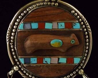 Vintage Valentino Coriz Santo Domingo Indian Sterling Silver Necklace