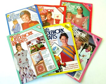McCall's Needlework & Crafts Magazine - Vintage Craft Magazines - Knitting Magazines - Vintage Needlework Magazines - Craft Magazine Destash
