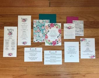 The Lilly Collection—Five-Piece Wedding Invitation Suite (Pack of 10)