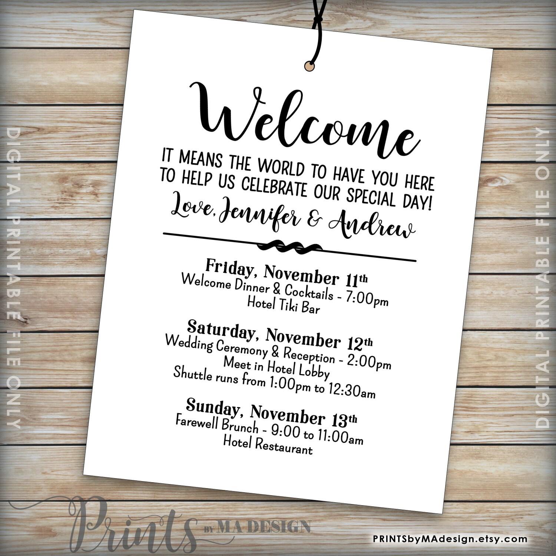 wedding schedule for guests - Romeo.landinez.co