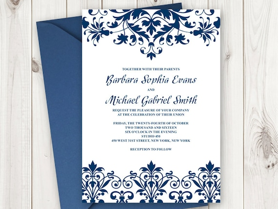 Elegant Wedding Invitation Templates: Elegant Wedding Invitation Printable Template