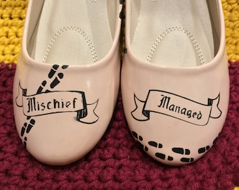 Mischief Managed Harry Potter Marauder's Map Shoes