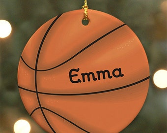 Personalized Basketball Ornament - Personalized with Name