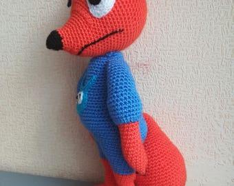 Crochet Fox Knitted toy Red fox Plush Fox Attractive Fox Crochet Animal Woodland animal Foxy Amigurumi toy