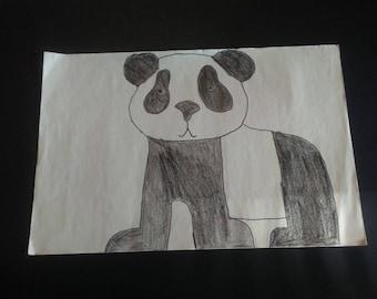Black and white giant panda bear
