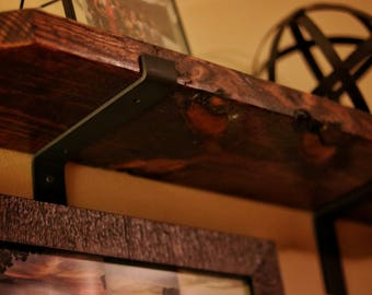 "Modern, Rustic, Industrial, Metal Shelf Brackets, Home Decor, Metal Corbel, Handmade ,  Custom shelving, 1.5"" Wide"
