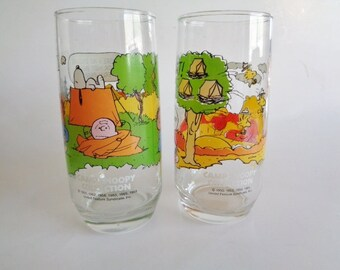 Vintage Camp Snoopy Collection McDonalds Drinking Glasses