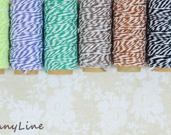 Bakers Cotton Twine - 20 yards - Mini Spool - Pastels - Pick your color