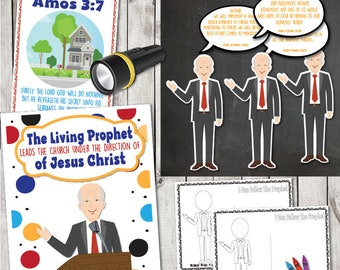"LDS May 2018 Sharing Time Week 1:""The living prophet leads the Church under the direction of Jesus Christ"" Lesson Packet & Activity Ideas"