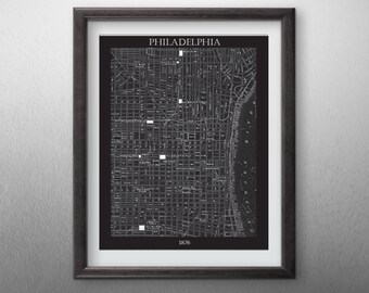 Philadelphia City  Map - Digital File