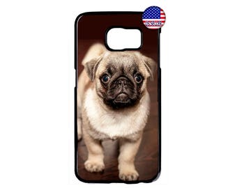 Cute Pug Puppy Dog Paws Pattern Hard Rubber TPU Case Cover For Samsung Galaxy S8 S7 S6 Edge Plus S5 S4 S3 NOTE 5 4 3 2 iPod Touch 4 5 6