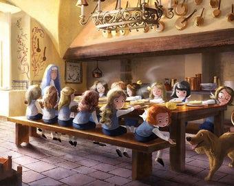 Madeline Illustration - Breakfast!