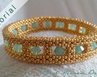 Through Crystal Windows Bangle-Bracelet and Earring Tutorial