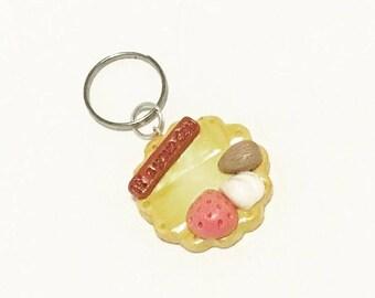 Assorted Waffle Cookie Key Charm