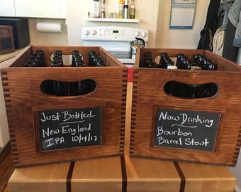 Homebrewer's Beer Bottle Aging and Storage Crates with NEW Lid Option
