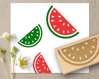 Watermelon Stamp, Summer Stamp, Watermelon Slice, Fruit Rubber Stamp, Picnic Stamp, Food Stamp, 4th of July Stamp 148