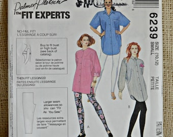 Uncut McCall's 6239 // 3 hour tunic // Misses' over size shirt and Pull-on leggings // SIZE 10-12