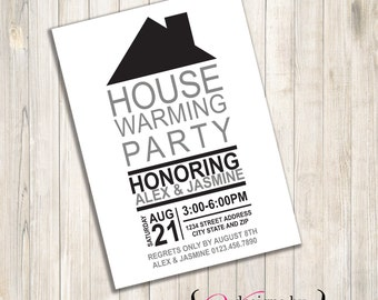 House Housewarming Invite Wainscoting Housewarming Invite