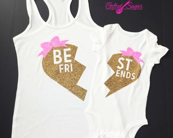 Mommy and Me shirts, Mommy and me Tank, Best Friends, Sisters, Mother and Daughter Glitter Tshirt,Valentine's Day,Mother's Day,Birthday
