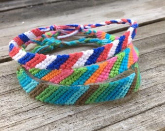 Custom Knotted Friendship Bracelet - Stripes